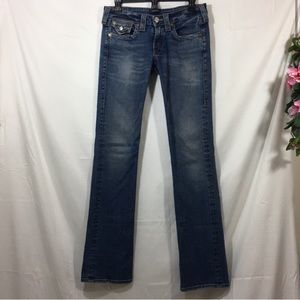 True Religion Button Flap Low Rise Billy Jeans EUC